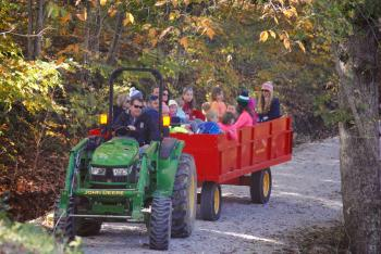 Hayrides are very popular at the Fall Colors Festival at McCloud Nature Park
