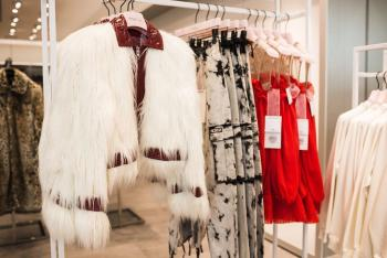 H&M Irvine Spectrum Center Giambattista Valli Collection Furry Coat