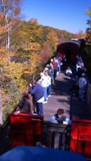 Foliage viewing from the Saratoga & North Creek Railway
