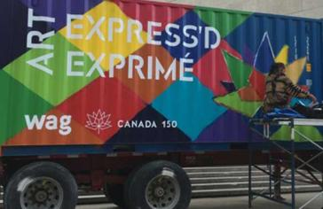 Art Express'd mobile art unit Canada 150