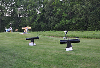 Various telescopes set up at McCloud Nature Park for Astronomy!