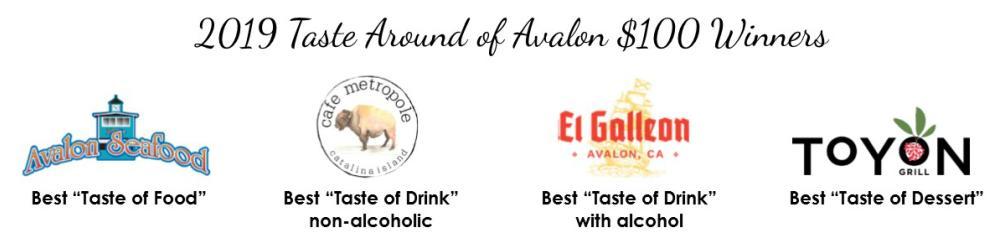 2019 Taste Around of Avalon Winners