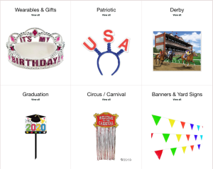 Party decorations from Horner Novelty