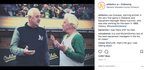 Oakland Athletics Instagram Post