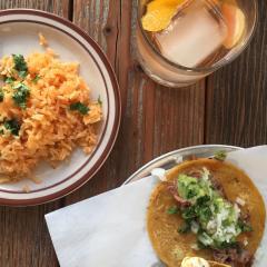 Little Conejo rice and taco