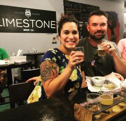 Couple enjoys beer at Sweet Allie Bs Limestone Beer Co