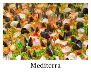A plate of paia from mediterra