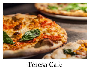 A fire grilled pizza from Teresa Cafe