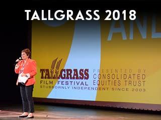 Tallgrass widget-woman on stage