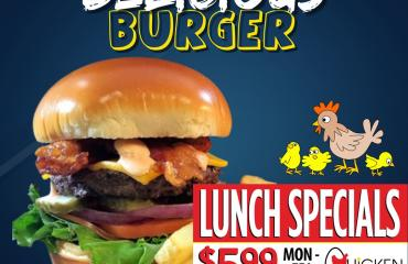 $5.99 Lunch Specials at Chicken n the Egg