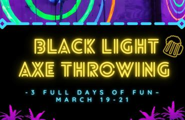 Black Light Axe Throwing