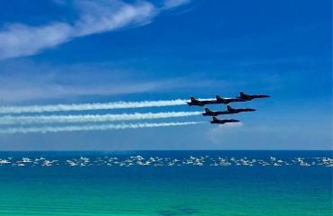 Blue Angels Practice Private Charter Pontoon Boat Rental