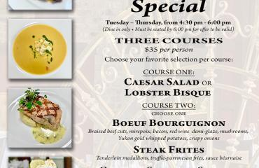 TWILIGHT THREE COURSE SPECIAL