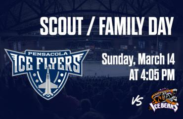 Scout and Family Day - Pensacola Ice Flyers vs Knoxville Ice Bears