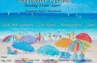 Pensacola Beach Art Walk on the Boardwalk