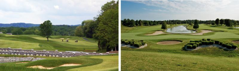Collage of golf courses in Southern Indiana