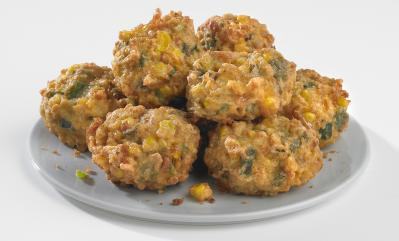 Central Market Hatch Chile Corn Fritters