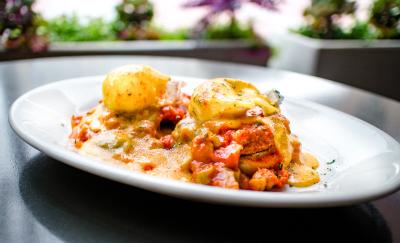 Bird Cafe Creole Eggs Benedict