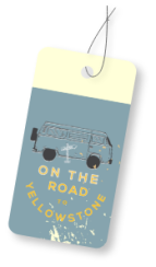 On the Road to Yellowstone Luggage Tag