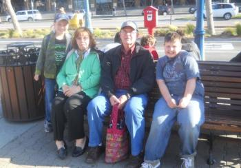 The author's kids and their grandparents on a recent day trip.