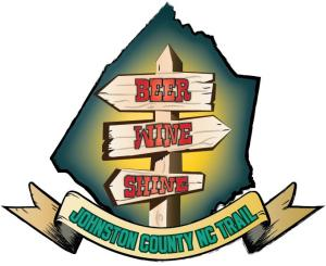 The logo for the Johnston County Beer, Wine, Shone Trail.