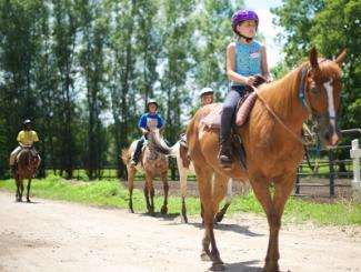 Natural Valley Ranch child horseback ride