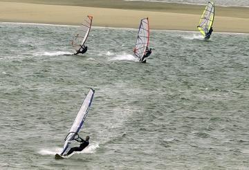 Windsurfers at Chatham Light