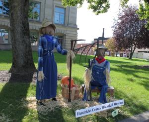 My favorite scarecrows were done by the Hendricks County Historical Museum.