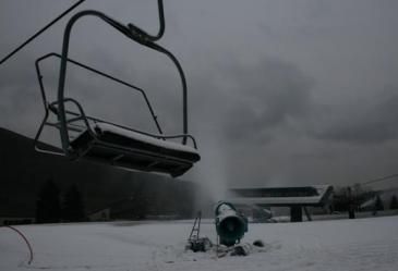 Bristol Mountain -Between Triple Rocket Chairlift and Comet Express High Speed Quad