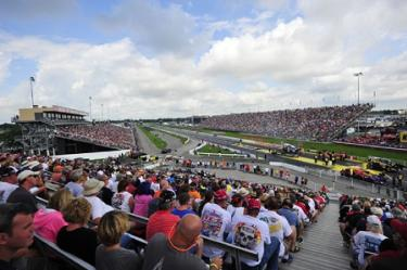 U.S. Nationals drag racing view from grandstands