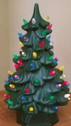 Vintage Lighted Christmas Tree