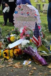 Susan B. Anthony Gravestone on Election Day