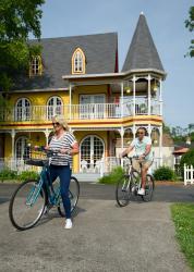 2 Cyclists On Widows Walk
