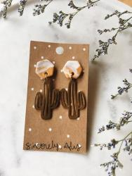 Saguaro cactus earrings from True North