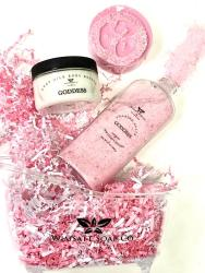 Bath salt, moisturizer and soap from Wimsatt Soap
