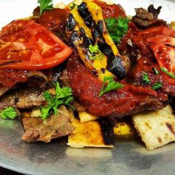 Plate of food at Ephesus Mediterranean Grill