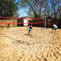 Brownies sand volleyball court