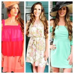 Women in spring dresses from Sapphire
