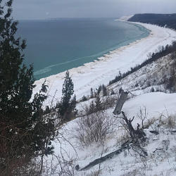 Winter at Empire Bluffs