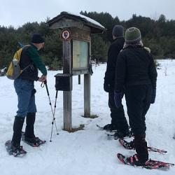 Snowshoers Gather at the Bay View Trailhead