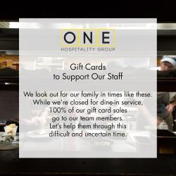 Tutoni's Gift Cards To Support Our Staff Flyer