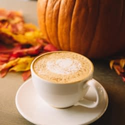 Pumpkin spice latte at Reverie Coffee Roasters