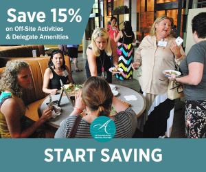 Save 15% on Off-Site Activities and Delegate Amenities