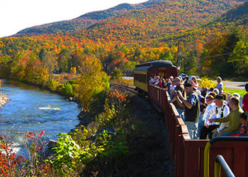 People riding the Catskills Mountain Railroad