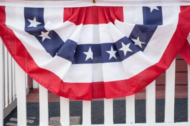Fourth of July Bunting in St. Charles