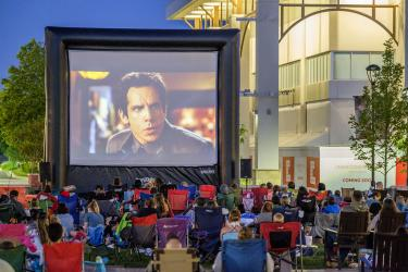 Watch a movie on an inflatable screen!