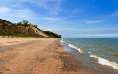 Central Beach at Indiana Dunes National Park