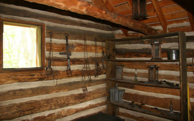 Bailly Homestead cabin interior
