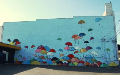 Dome District Mural - Umbrella Wall - by Chris Sharp