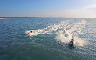 Jet Skis on ocean/waterway